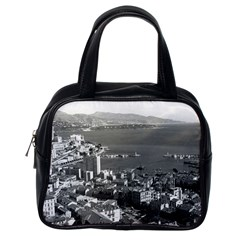 Vintage Principality of Monaco  the port of Monte Carlo Single-sided Satchel Handbag