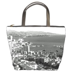 Vintage Principality of Monaco  the port of Monte Carlo Bucket Handbag