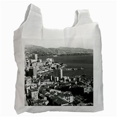 Vintage Principality of Monaco  the port of Monte Carlo Twin-sided Reusable Shopping Bag
