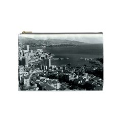 Vintage Principality of Monaco  the port of Monte Carlo Medium Makeup Purse