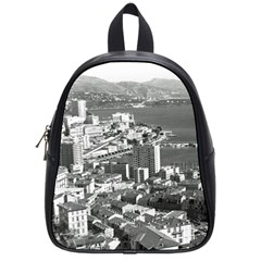 Vintage Principality of Monaco  the port of Monte Carlo Small School Backpack