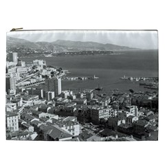 Vintage Principality of Monaco  the port of Monte Carlo Cosmetic Bag (XXL)