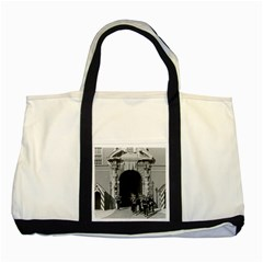 Vintage Principality Of Monaco Palace Gate And Guard Two Toned Tote Bag