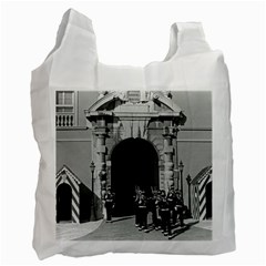 Vintage Principality of Monaco palace gate and guard Single-sided Reusable Shopping Bag
