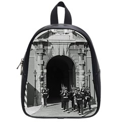 Vintage Principality of Monaco palace gate and guard Small School Backpack