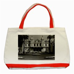 Vintage Principality of Monaco Monte Carlo Casino Red Tote Bag