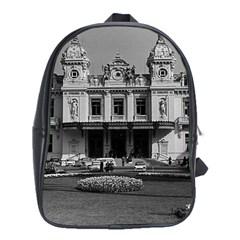 Vintage Principality Of Monaco Monte Carlo Casino School Bag (xl)