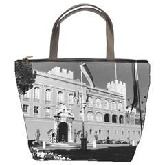 Vintage Principality of Monaco & princely palace 1970 Bucket Handbag