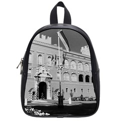 Vintage Principality of Monaco & princely palace 1970 Small School Backpack