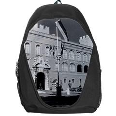 Vintage Principality of Monaco & princely palace 1970 Backpack Bag