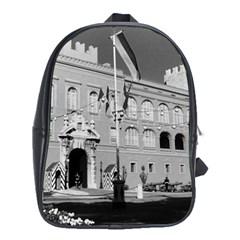 Vintage Principality Of Monaco & Princely Palace 1970 School Bag (xl)