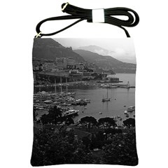 Vintage Principality of Monaco The port of Monaco 1970 Cross Shoulder Sling Bag