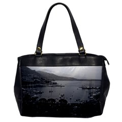 Vintage Principality of Monaco The port of Monaco 1970 Single-sided Oversized Handbag