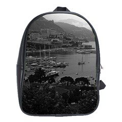 Vintage Principality Of Monaco The Port Of Monaco 1970 School Bag (xl)