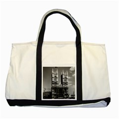 Vintage Uk England London Westminster Abbey 1970 Two Toned Tote Bag