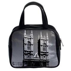 Vintage Uk England London Westminster Abbey 1970 Twin Sided Satchel Handbag