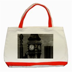 Vintage Uk England London The Post Office Tower Big Ben Red Tote Bag