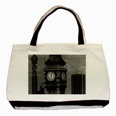 Vintage UK England London The post office tower Big ben Twin-sided Black Tote Bag