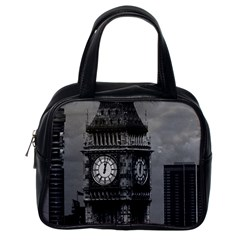 Vintage UK England London The post office tower Big ben Single-sided Satchel Handbag