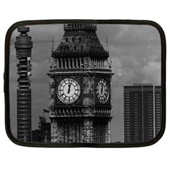 Vintage UK England London The post office tower Big ben 13  Netbook Case