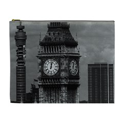 Vintage UK England London The post office tower Big ben Extra Large Makeup Purse
