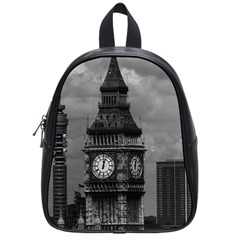 Vintage UK England London The post office tower Big ben Small School Backpack