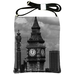 Vintage UK England London The post office tower Big ben Cross Shoulder Sling Bag
