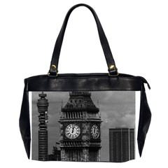 Vintage Uk England London The Post Office Tower Big Ben Twin Sided Oversized Handbag