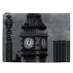 Vintage UK England London The post office tower Big ben Cosmetic Bag (XXL)