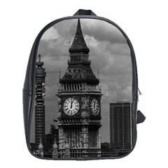 Vintage UK England London The post office tower Big ben School Bag (XL)