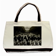 Vintage Uk England The Guards Returning Along The Mall Black Tote Bag