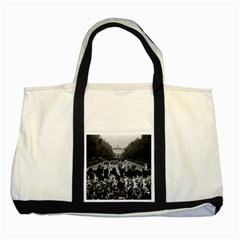 Vintage Uk England The Guards Returning Along The Mall Two Toned Tote Bag