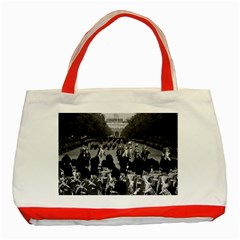 Vintage Uk England The Guards Returning Along The Mall Red Tote Bag