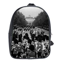 Vintage UK England the Guards returning along the Mall Large School Backpack