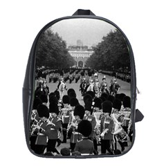 Vintage Uk England The Guards Returning Along The Mall School Bag (xl)