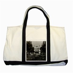 Vintage Principality of Monaco Monte Carlo Casino Two Toned Tote Bag
