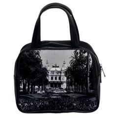 Vintage Principality of Monaco Monte Carlo Casino Twin-sided Satchel Handbag