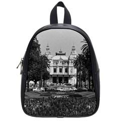 Vintage Principality of Monaco Monte Carlo Casino Small School Backpack