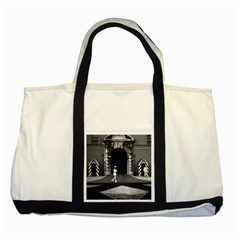 Vintage Principality of Monaco & princely palace 1970 Two Toned Tote Bag