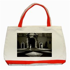 Vintage Principality of Monaco & princely palace 1970 Red Tote Bag