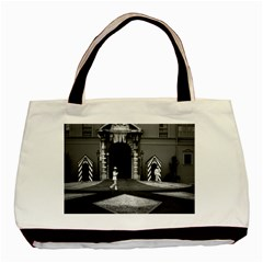 Vintage Principality Of Monaco & Princely Palace 1970 Twin Sided Black Tote Bag