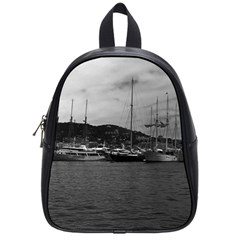 Vintage Principality of Monaco The port of Monaco 1970 Small School Backpack