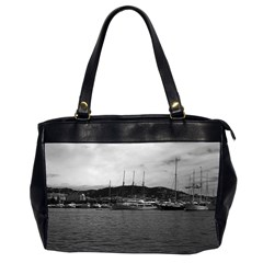Vintage Principality of Monaco The port of Monaco 1970 Twin-sided Oversized Handbag