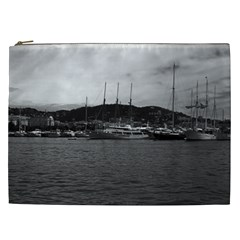 Vintage Principality of Monaco The port of Monaco 1970 Cosmetic Bag (XXL)