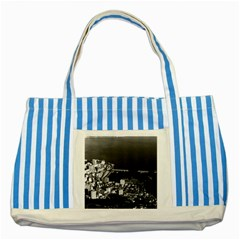 Vintage Principality of Monaco & overview 1970 Blue Striped Tote Bag