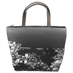 Vintage Principality of Monaco & overview 1970 Bucket Handbag