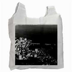 Vintage Principality of Monaco & overview 1970 Single-sided Reusable Shopping Bag
