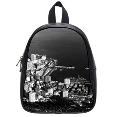 Vintage Principality Of Monaco & Overview 1970 Small School Backpack