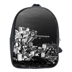 Vintage Principality of Monaco & overview 1970 School Bag (XL)