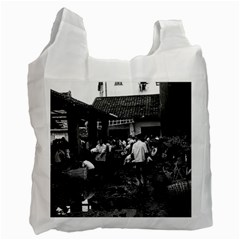 Vintage China changsha market 1970 Twin-sided Reusable Shopping Bag
